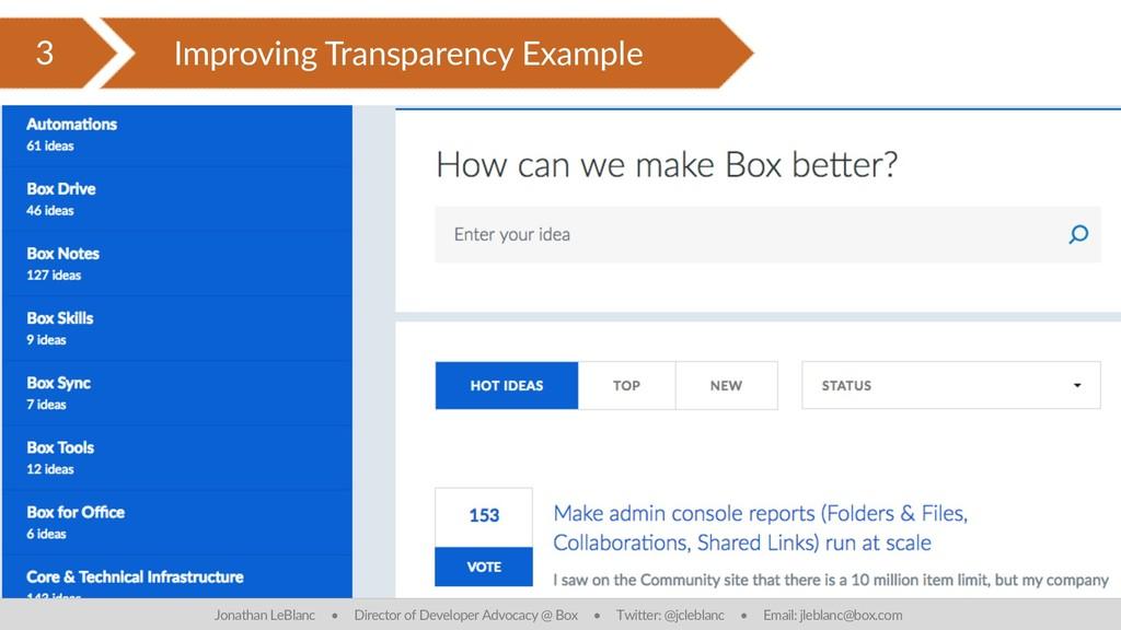 3 Improving Transparency Example Jonathan LeBla...