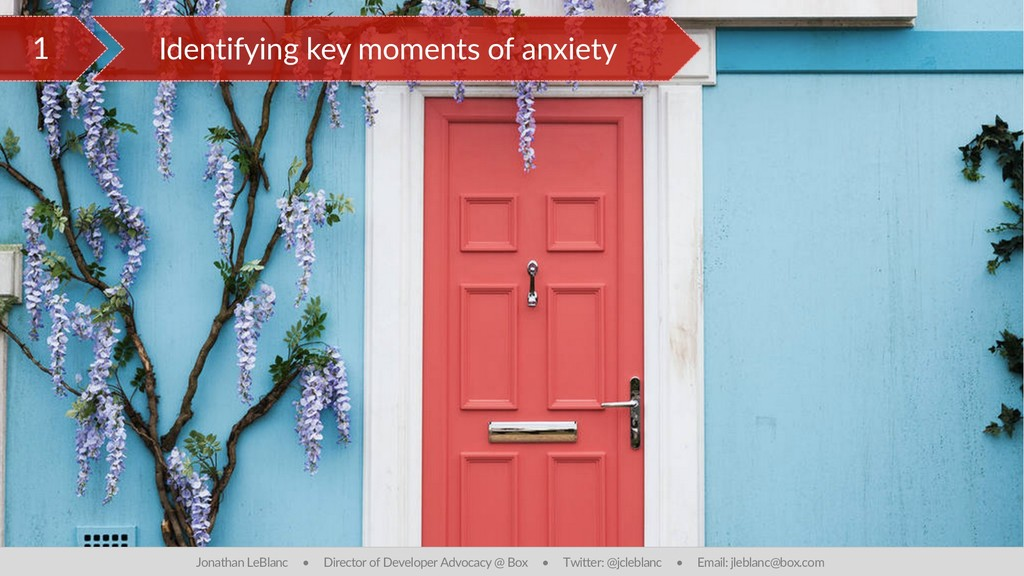 1 Identifying key moments of anxiety Jonathan L...