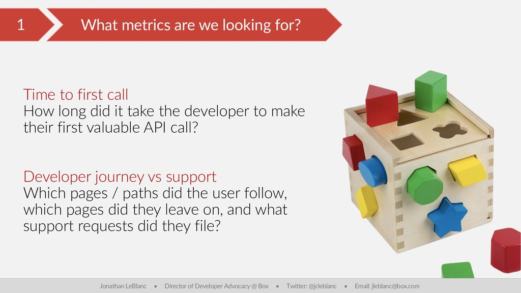 1 What metrics are we looking for? Jonathan LeB...
