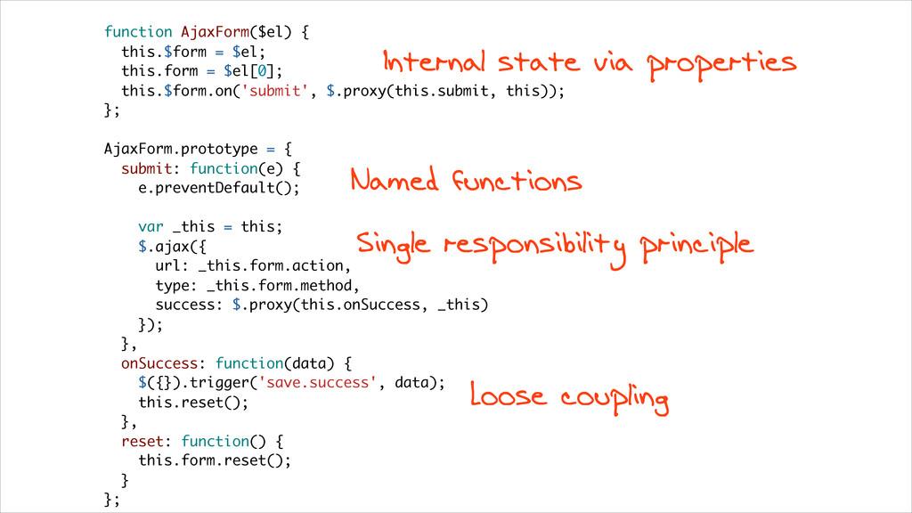 function AjaxForm($el) { this.$form = $el; this...