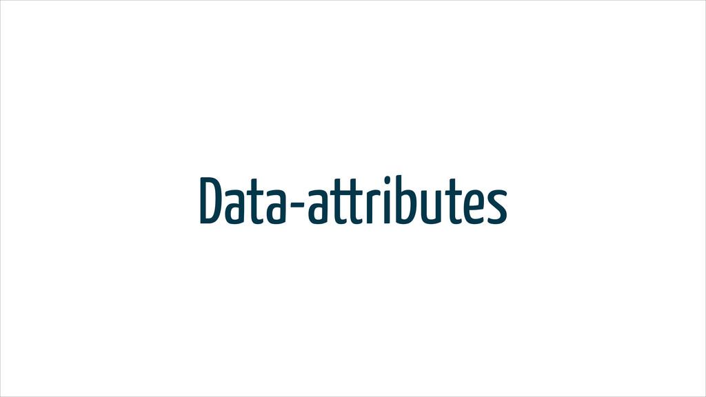 Data-attributes
