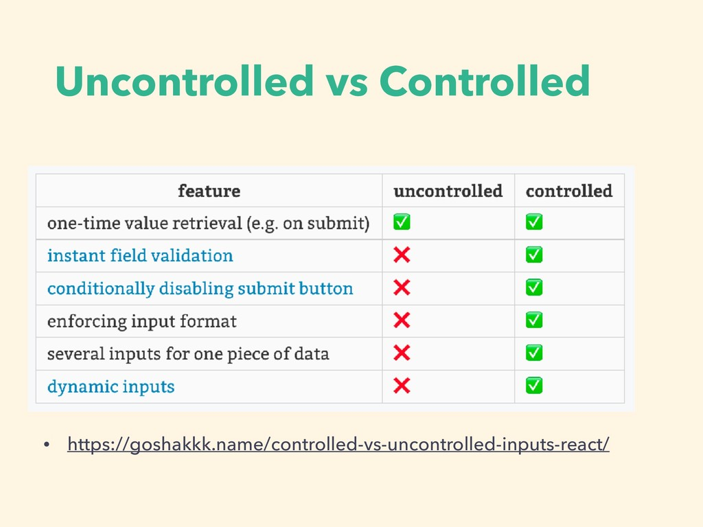 Uncontrolled vs Controlled • https://goshakkk.n...