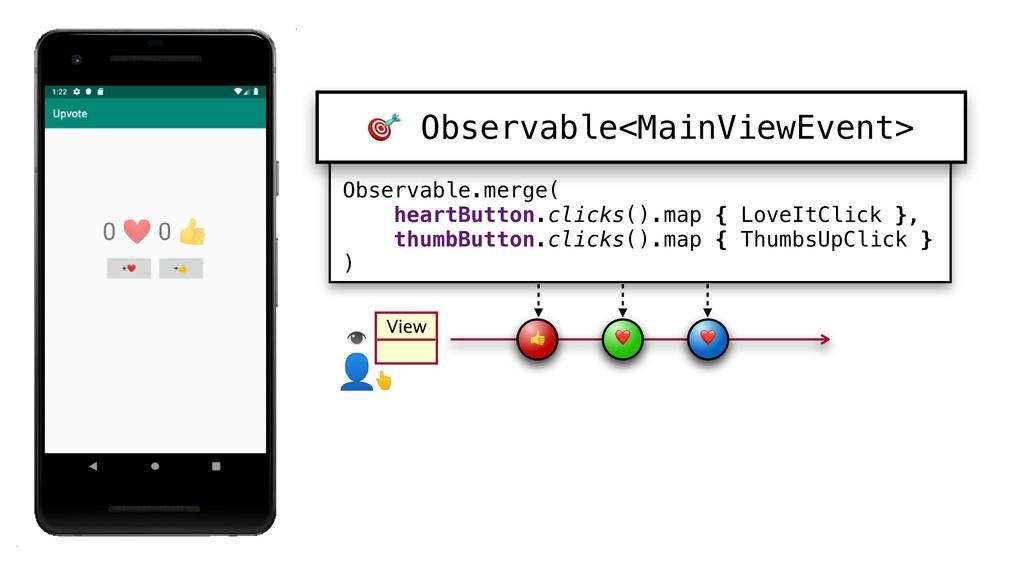 Observable.merge( heartButton.clicks().map {_Lo...