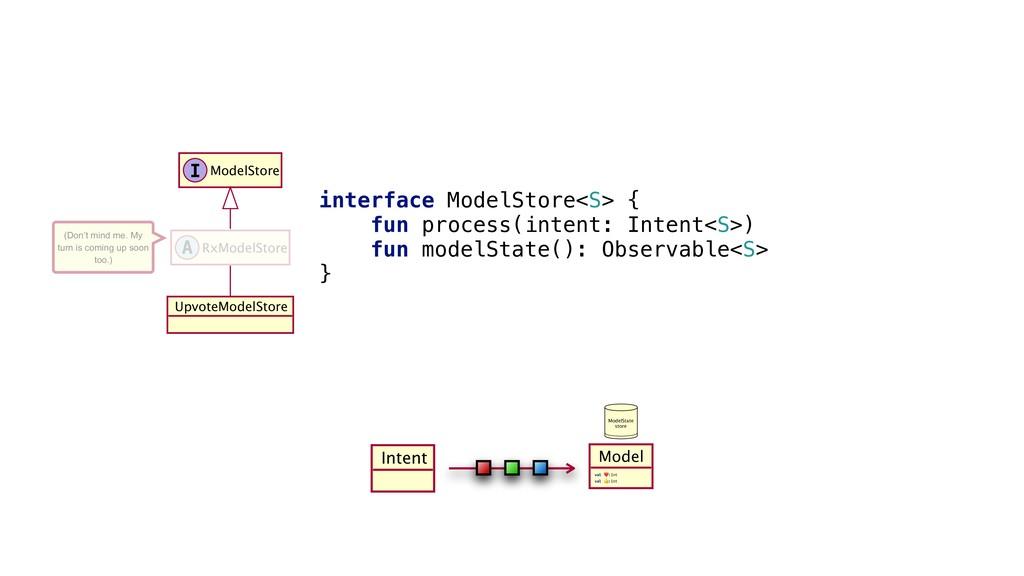 Intent x interface_ModelStore<S>_{ fun process(...