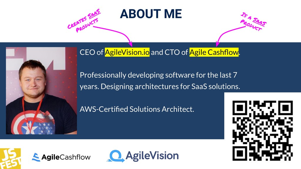 ABOUT ME CEO of AgileVision.io and CTO of Agile...