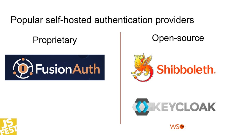 Popular self-hosted authentication providers Op...