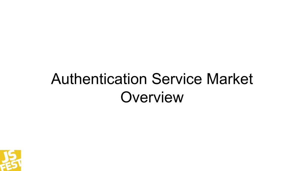Authentication Service Market Overview