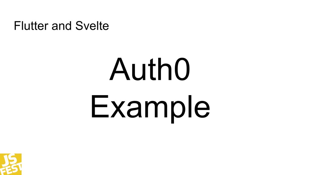 Flutter and Svelte Auth0 Example