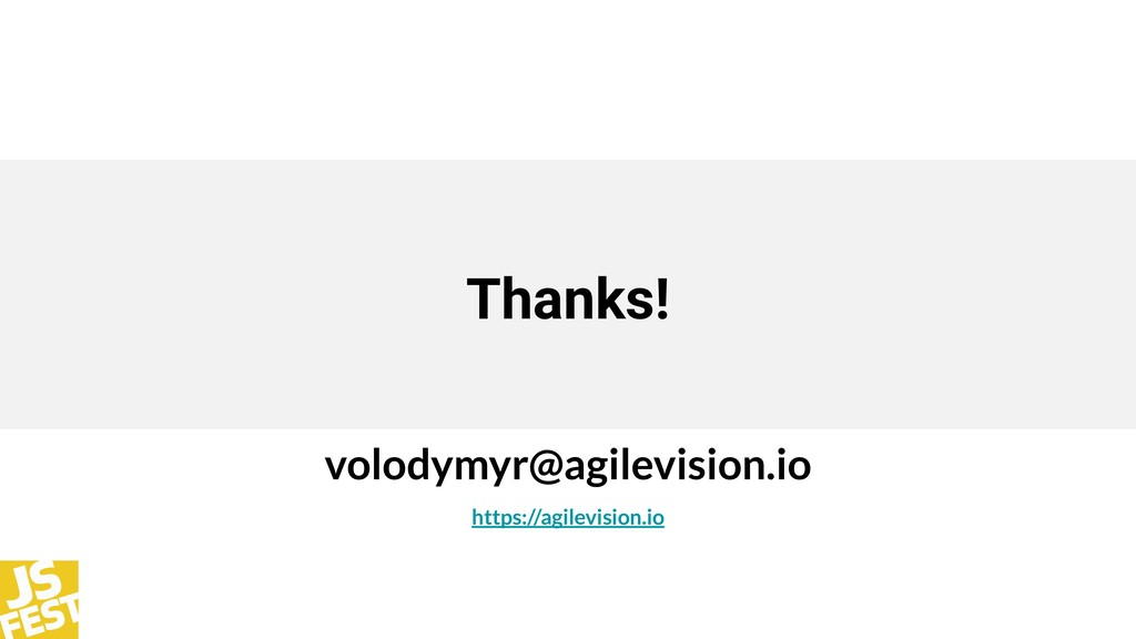 Thanks! volodymyr@agilevision.io https://agilev...