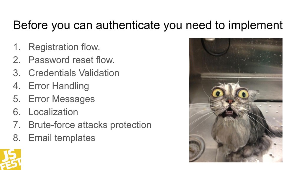 Before you can authenticate you need to impleme...