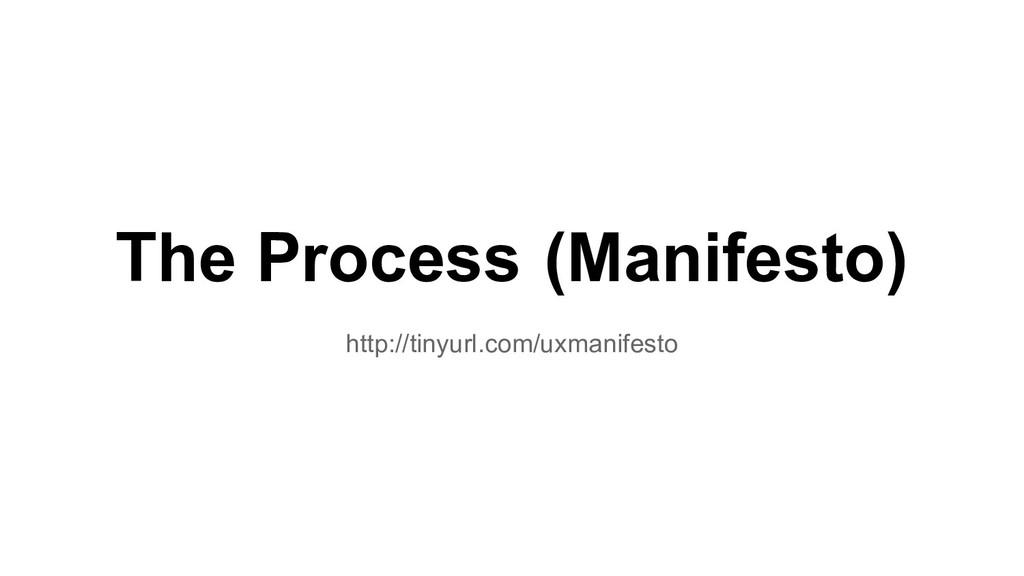 The Process (Manifesto) http://tinyurl.com/uxma...