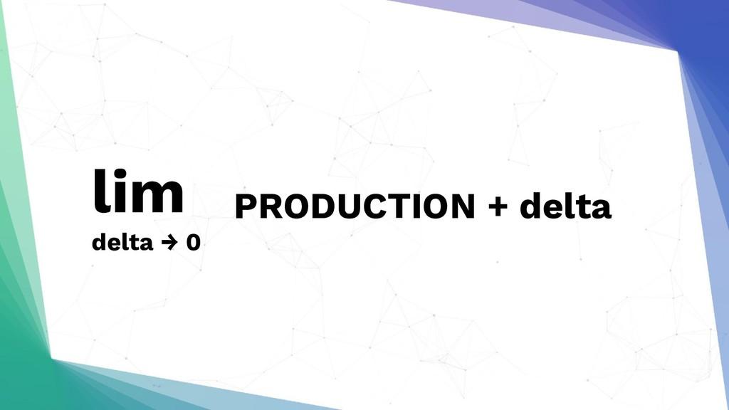 lim delta → 0 PRODUCTION + delta