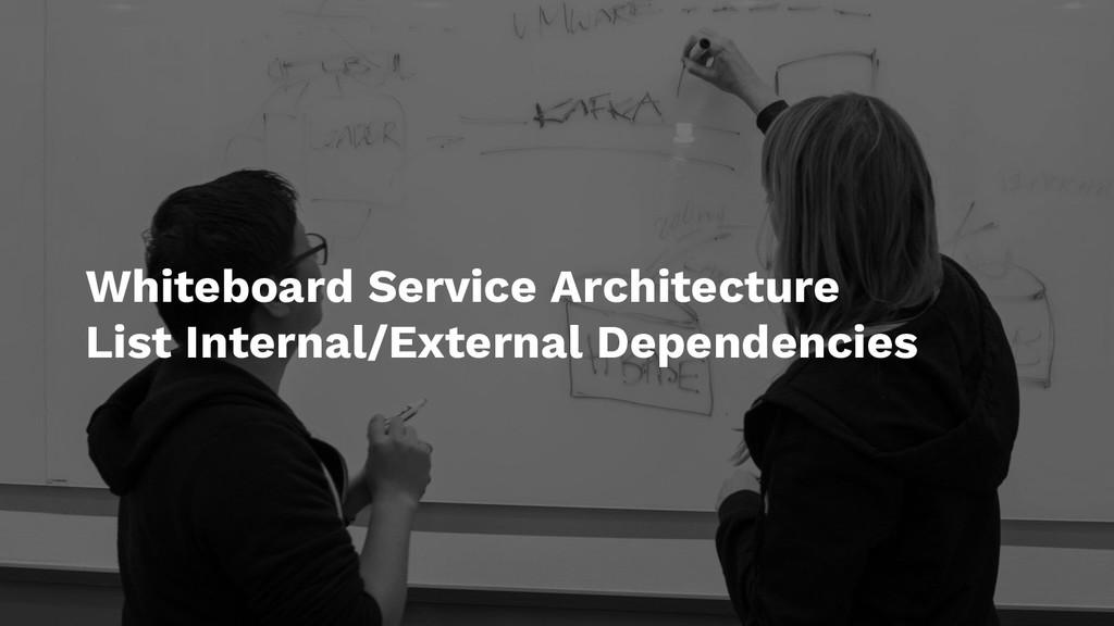 Whiteboard Service Architecture List Internal/E...