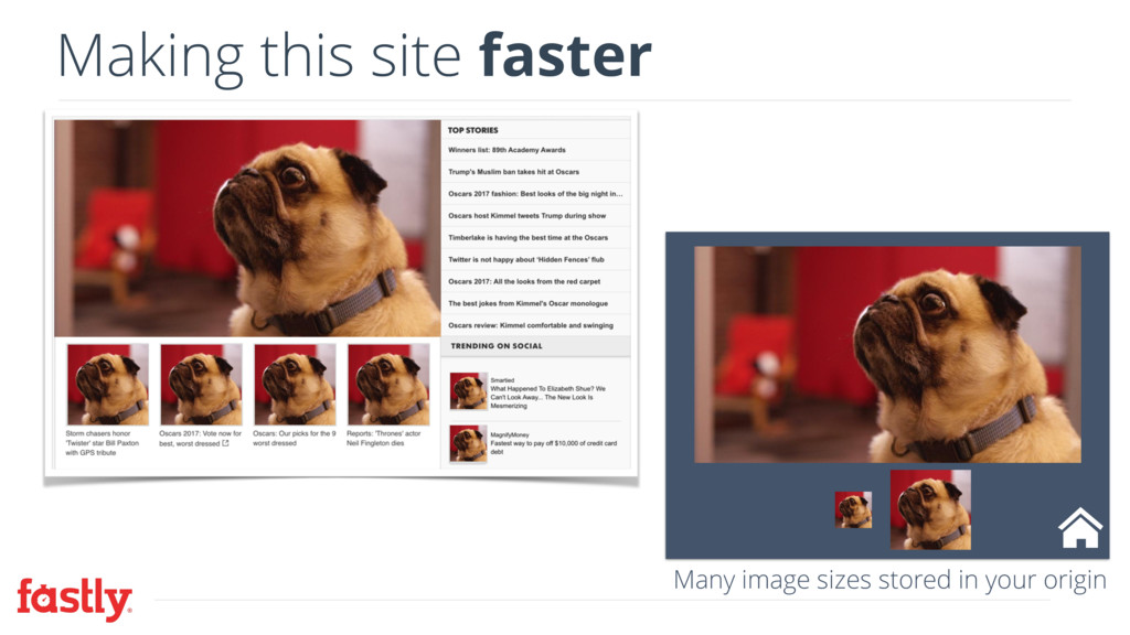 Making this site faster Many image sizes stored...