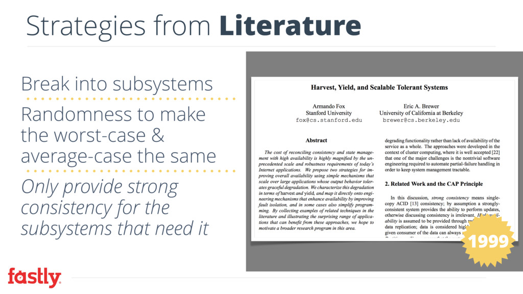 Strategies from Literature Break into subsystem...
