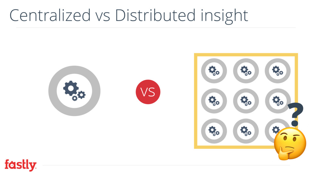 Centralized vs Distributed insight vs  ?