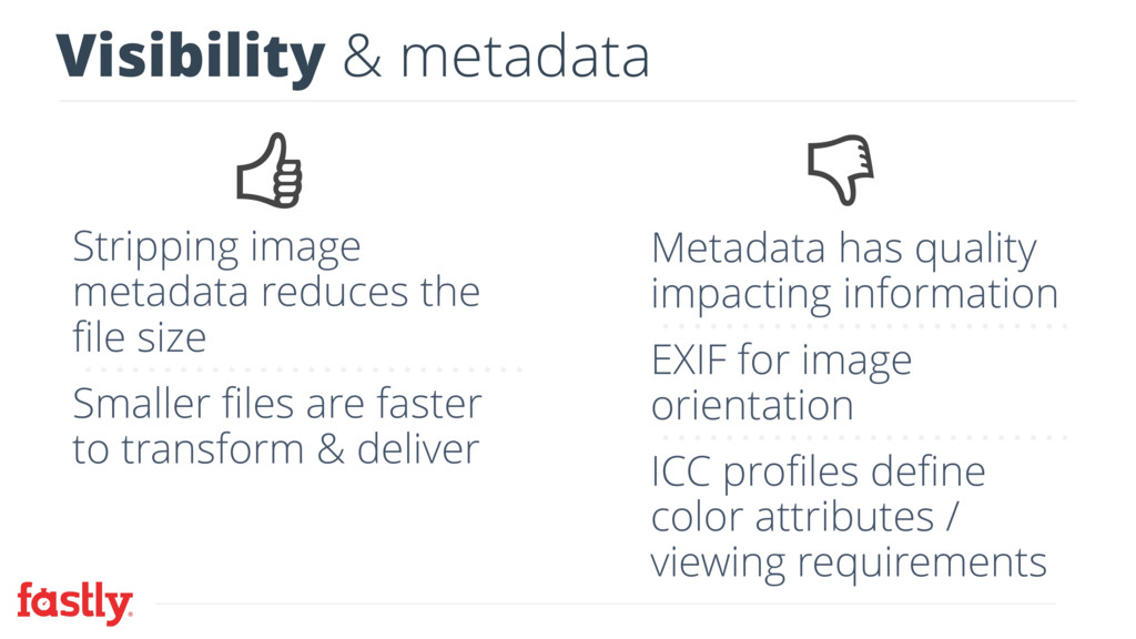 Visibility & metadata Stripping image metadata ...