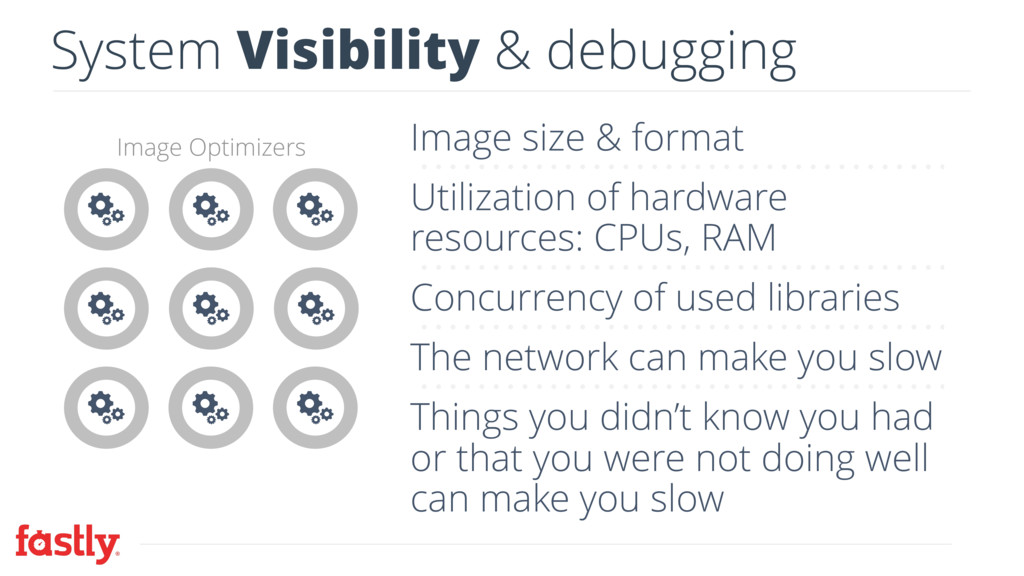 System Visibility & debugging Image Optimizers ...