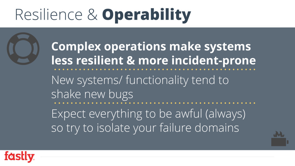 Resilience & Operability Complex operations mak...