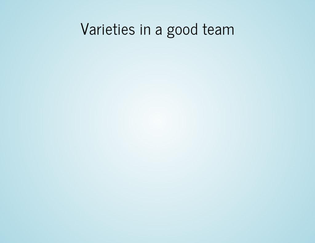 Varieties in a good team