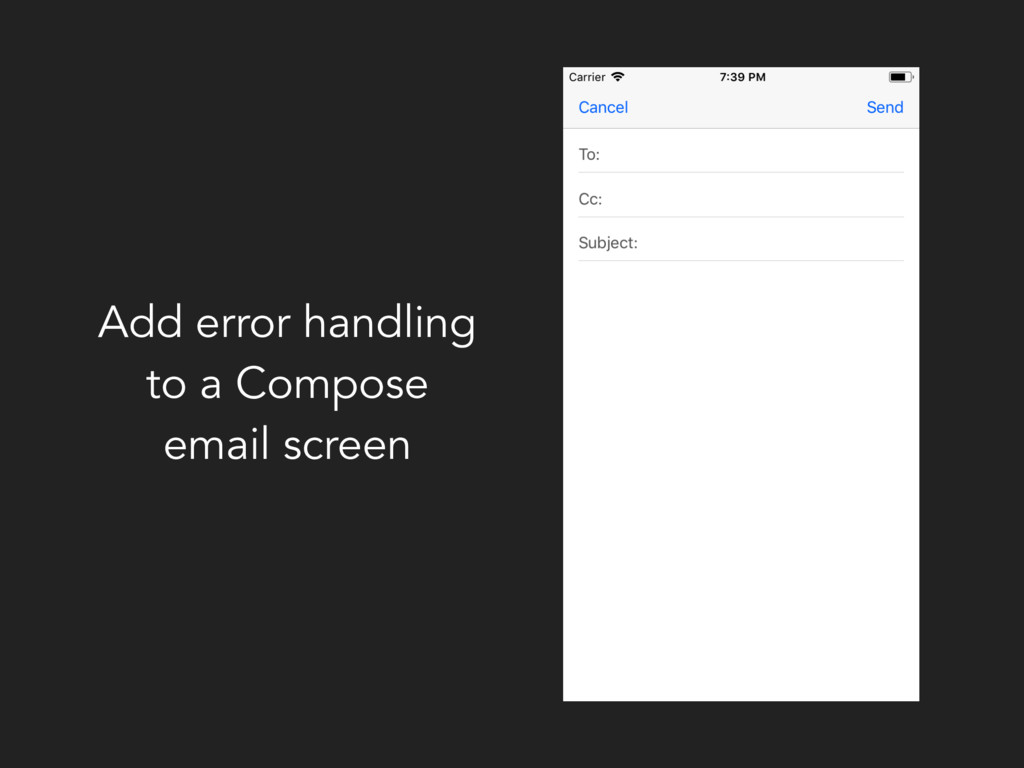 Add error handling to a Compose email screen