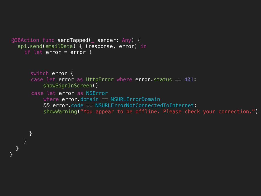 case let error as NSError where error.domain ==...