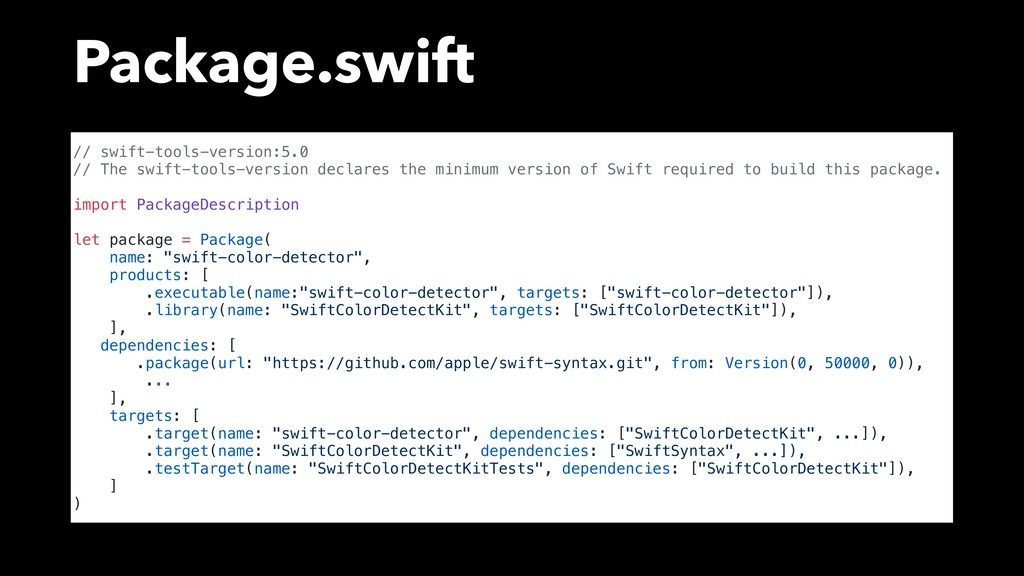 Package.swift // swift-tools-version:5.0 // The...