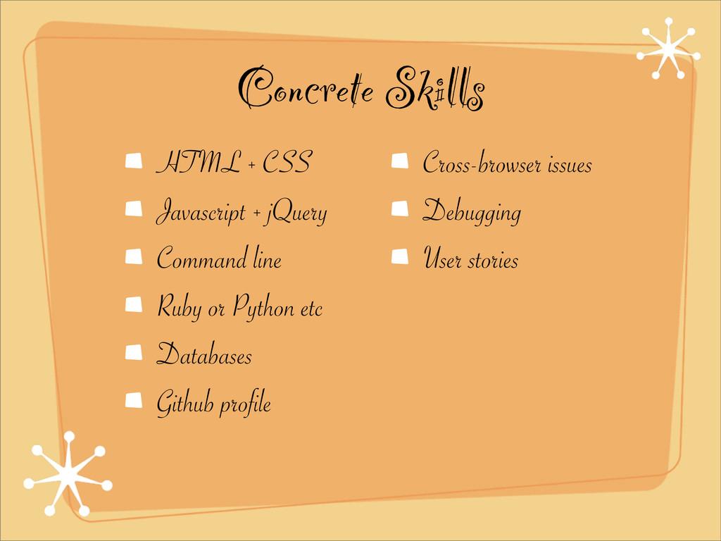 Concrete Skills HTML + CSS Javascript + jQuery ...