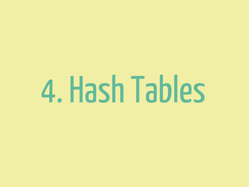 4. Hash Tables