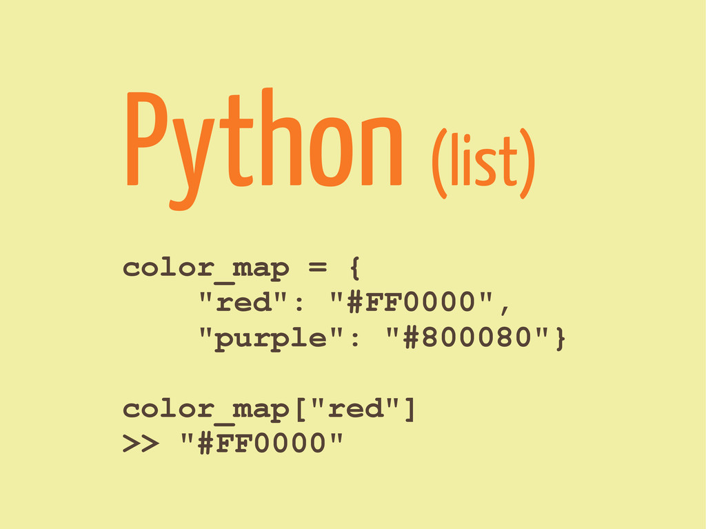 """color_map = { """"red"""": """"#FF0000"""", """"purple"""": """"#800..."""