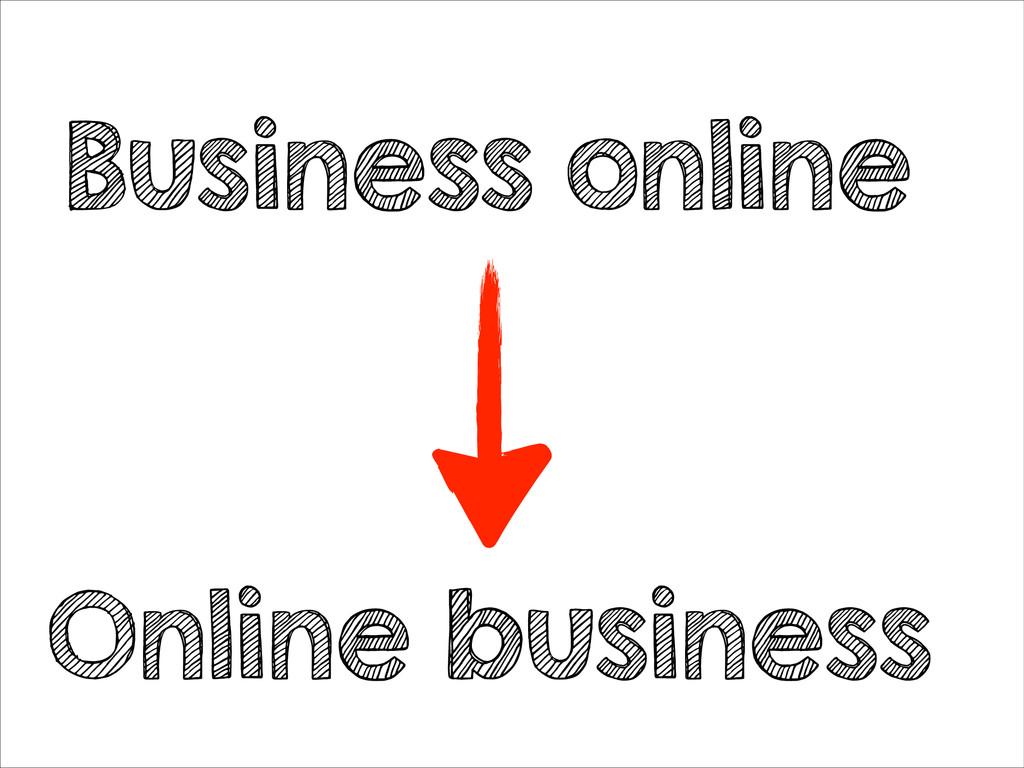 Business online Online business
