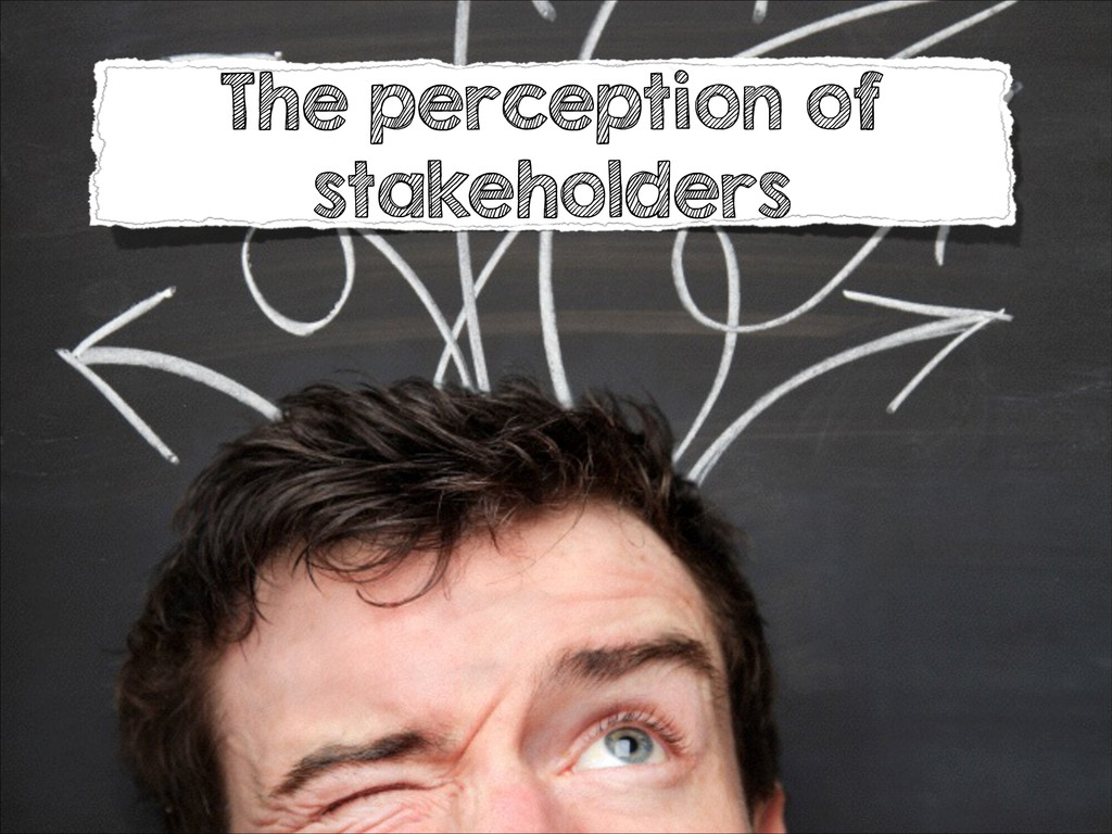 The perception of stakeholders