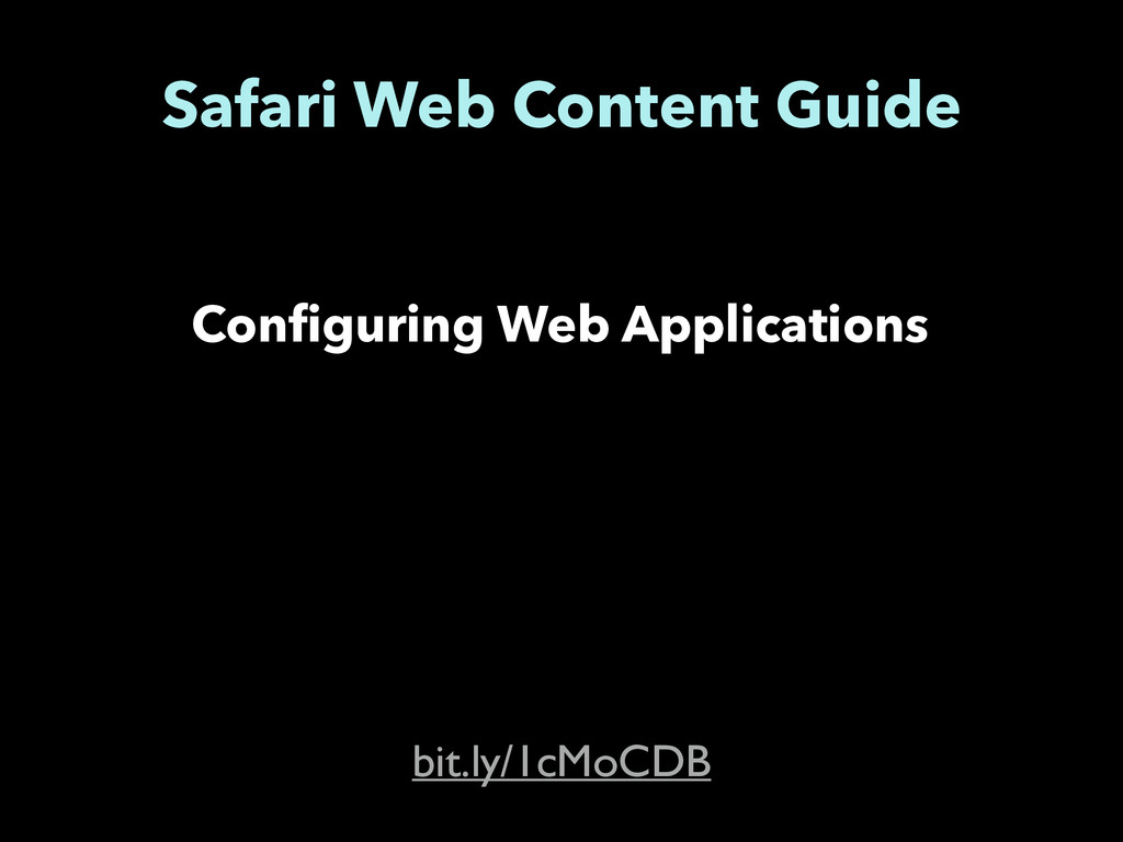 Safari Web Content Guide Configuring Web Applic...