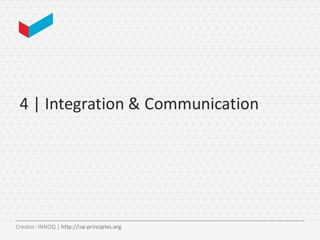 4 | Integration & Communication Creator: INNOQ ...