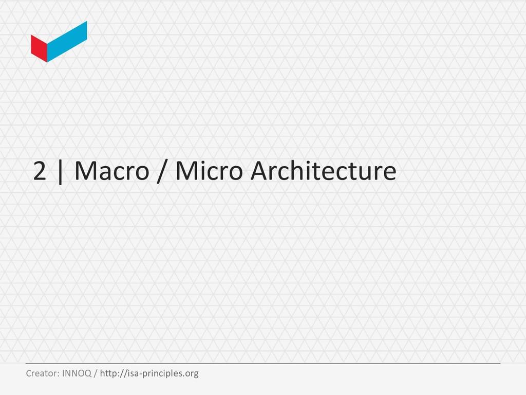 2 | Macro / Micro Architecture Creator: INNOQ /...