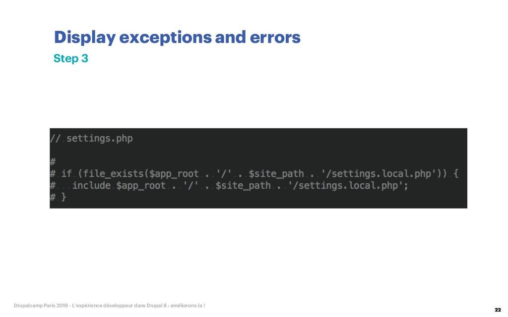Display exceptions and errors 22 Drupalcamp Par...