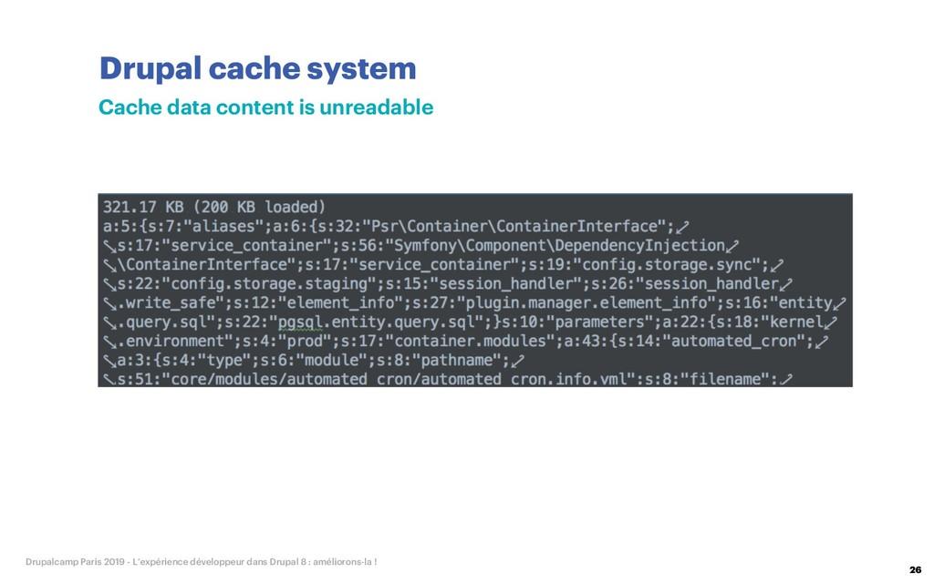 Drupal cache system 26 Drupalcamp Paris 2019 - ...