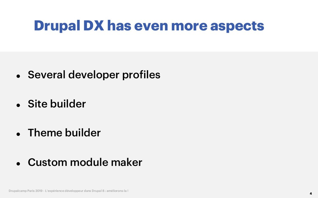 Drupal DX has even more aspects 4 Drupalcamp Pa...