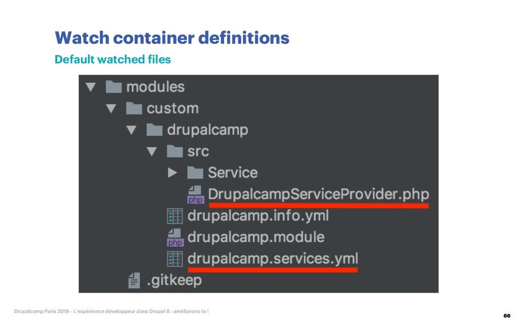 Watch container definitions 66 Drupalcamp Paris...