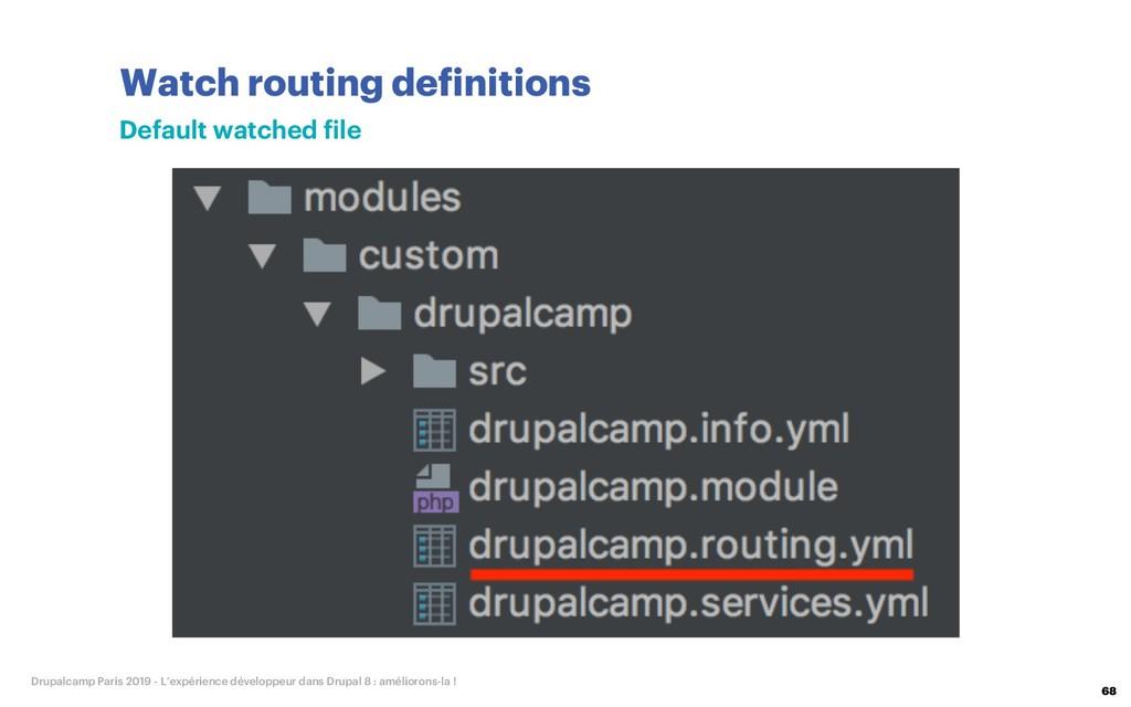 Watch routing definitions 68 Drupalcamp Paris 2...