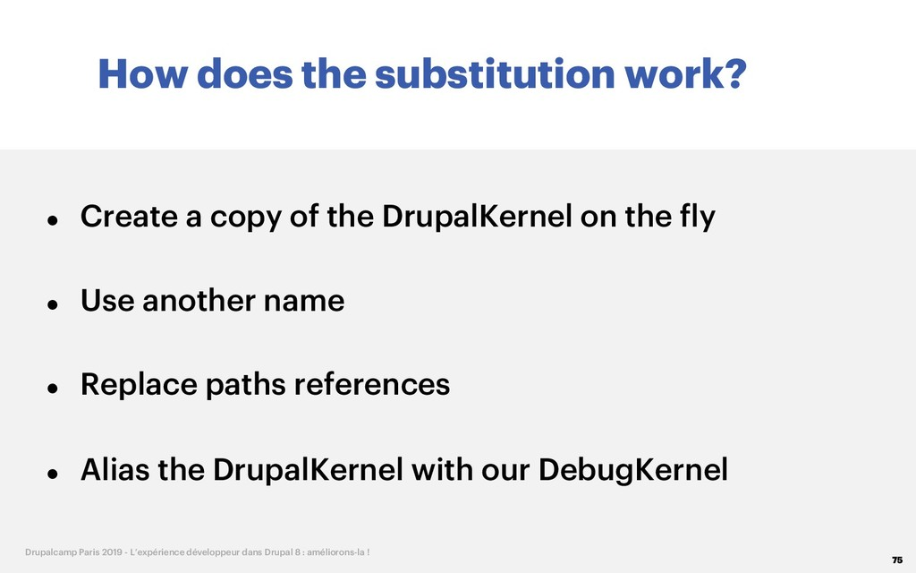 How does the substitution work? 75 Drupalcamp P...