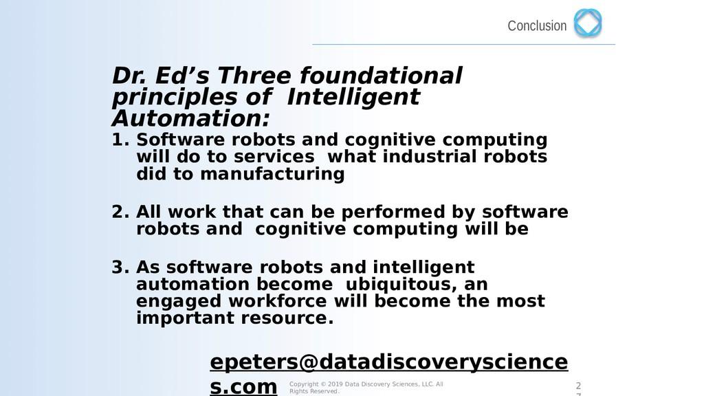 Dr. Ed's Three foundational principles of Intel...