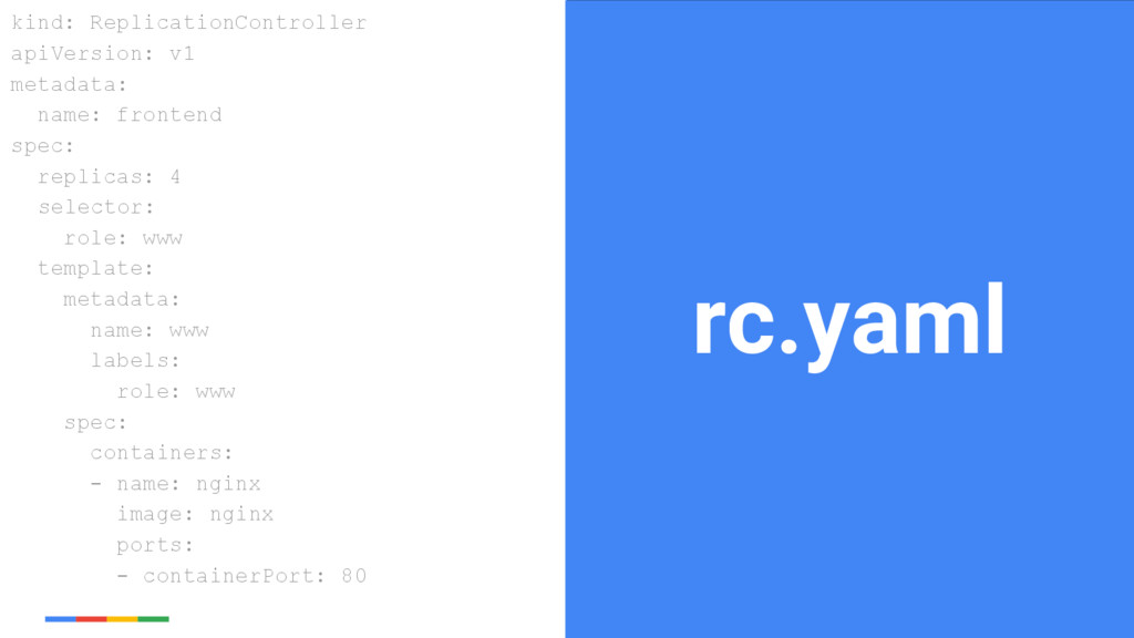 21 Google Cloud Platform rc.yaml kind: Replicat...