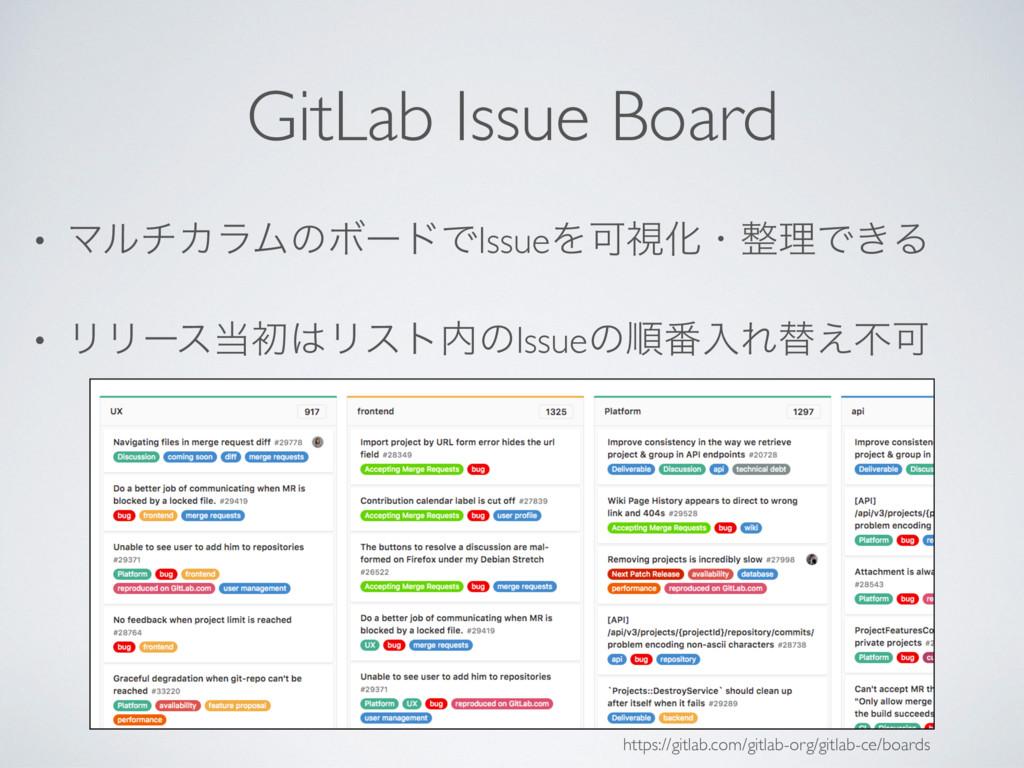 GitLab Issue Board • ϚϧνΧϥϜͷϘʔυͰIssueΛՄࢹԽɾཧͰ͖Δ...