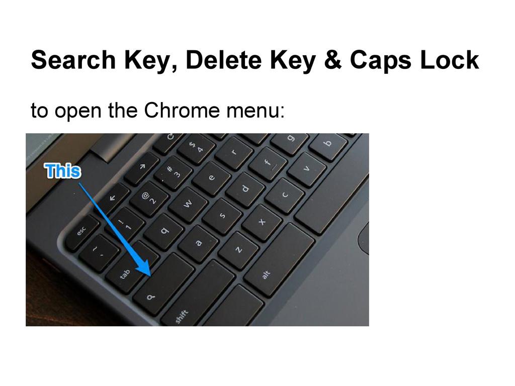Search Key, Delete Key & Caps Lock to open the ...