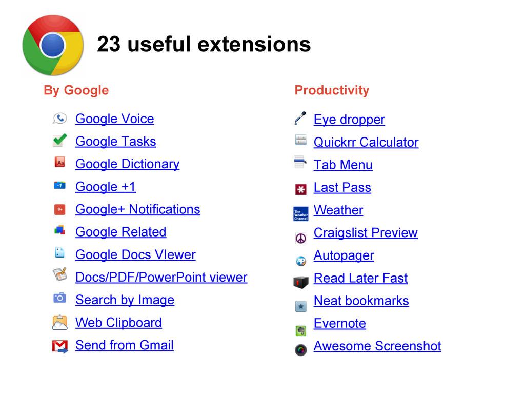 Google Voice Google Tasks Google Dictionary Goo...