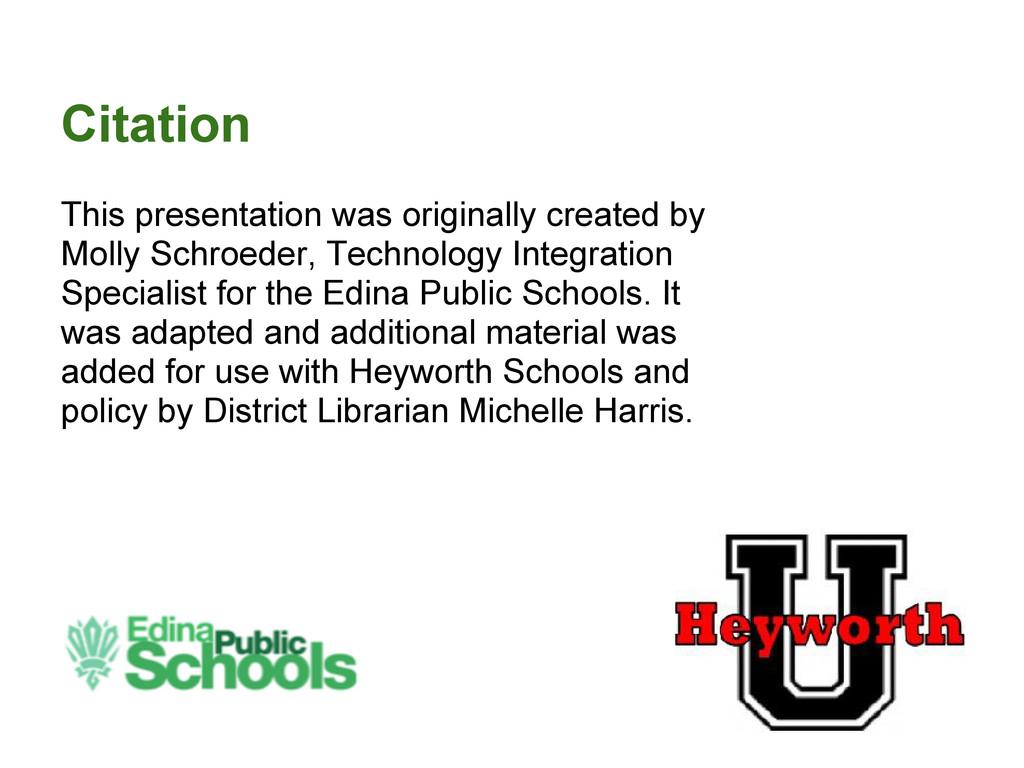 Citation This presentation was originally creat...