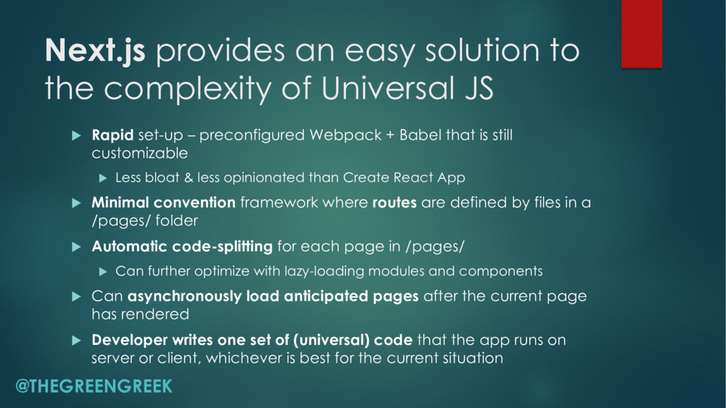 Next.js provides an easy solution to the comple...