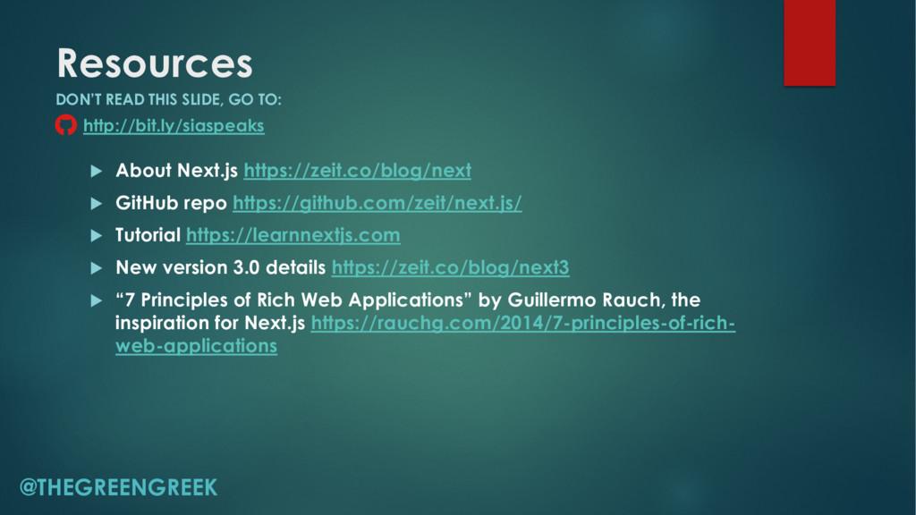 Resources u About Next.js https://zeit.co/blog/...