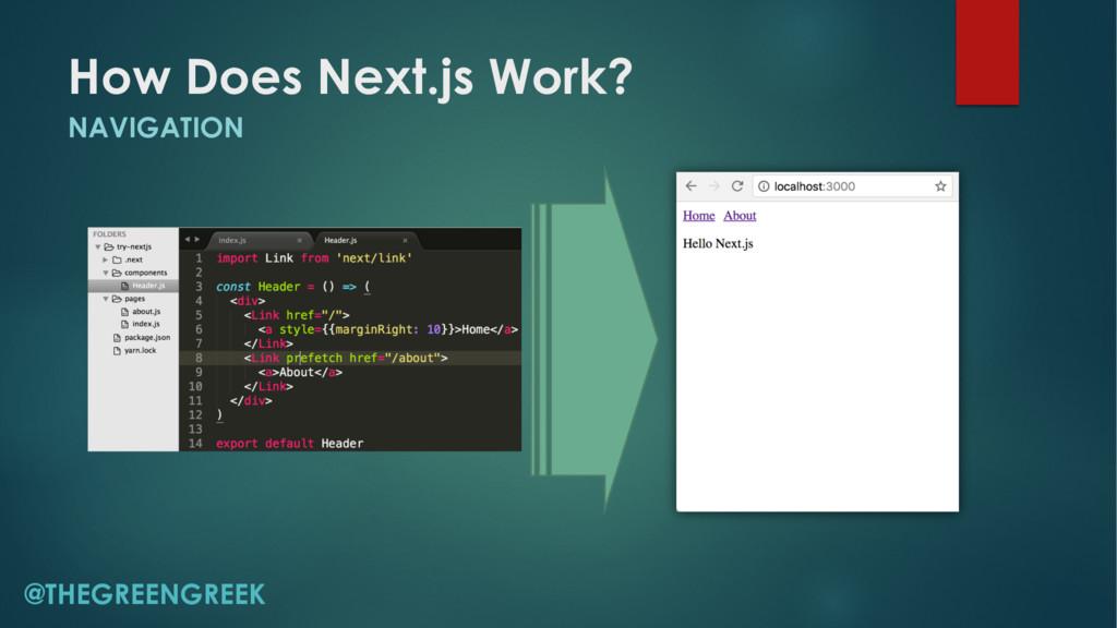 How Does Next.js Work? NAVIGATION @THEGREENGREEK